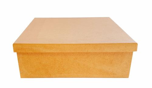 caixa lisa 20x20x5 mdf crú lembrancinhas casamento festa
