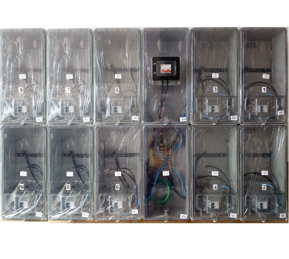 105783e9e75 caixa luz 10 medidores padrão edp bandeirante   cpfl relógio. Carregando  zoom.