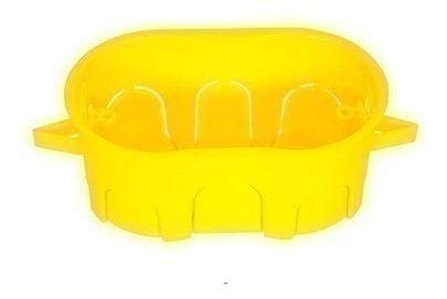 caixa luz 2x4 drywall gesso amarela  c30un   40494