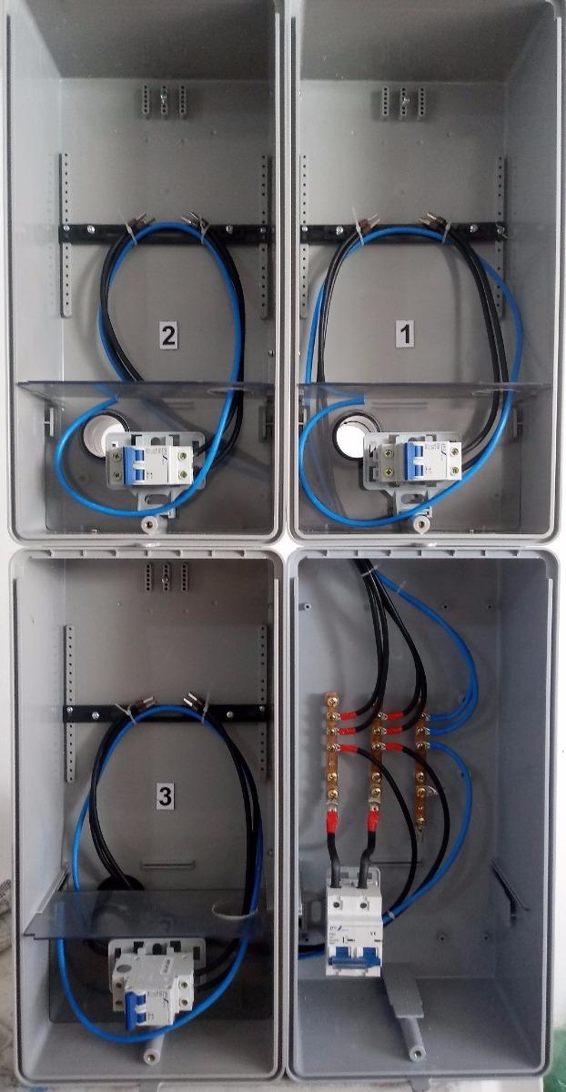 79fe7554cb6 caixa luz 3 medidores edp bandeirante   eletropaulo relógio. Carregando  zoom.