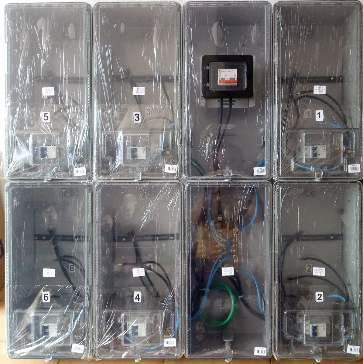 04c06aecbd4 Caixa Luz 6 Medidores Aes Eletropaulo Relógio Medição - R  1.399