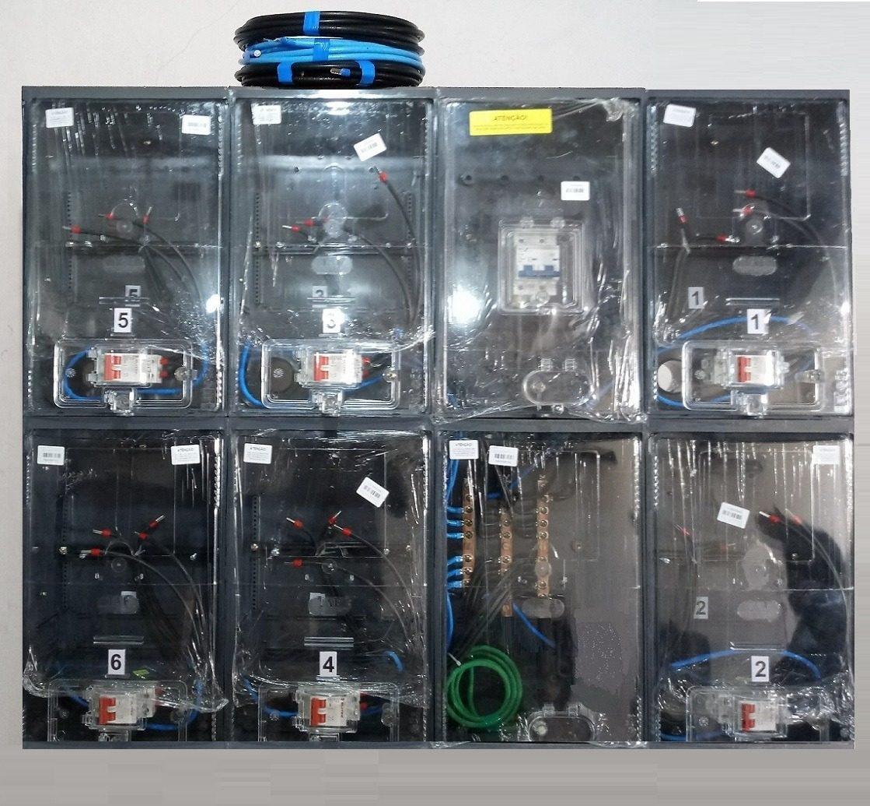 dfd81f3b13a caixa luz 6 medidores padrão eletropaulo enel relóg medição. Carregando  zoom.
