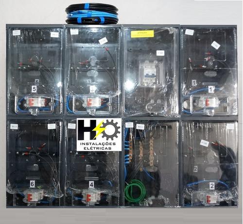 caixa luz 6 medidores padrão eletropaulo enel relóg medição