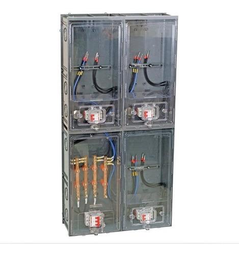 caixa luz padrão eletropaulo p/ 3 medidores cabo 25mm c/ kit