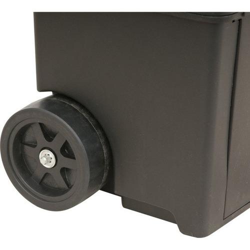 caixa maleta bau p/ ferramentas plastica c/ roda guard chave