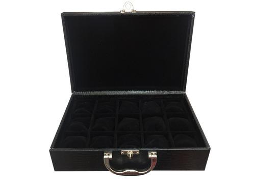 caixa, maleta, estojo luxo porta 15 relógios maior do site