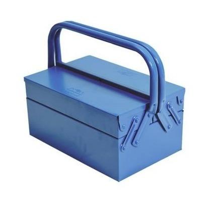 caixa maleta para ferramentas sanfonada com 3 gavetas em aço