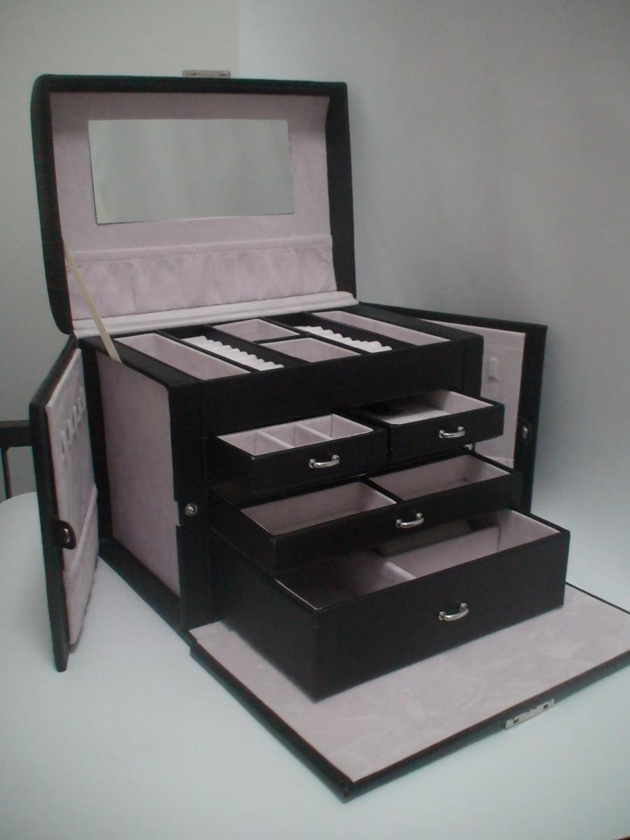 Aparador Zara Home ~ Caixa Maleta Porta Jóia Pj185 Vip+brinde Relógio Bracelete R$ 219,90 em Mercado Livre