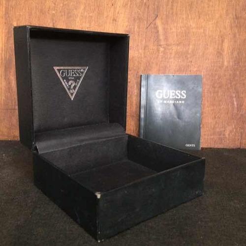 caixa manual sem relógio guess by marciano