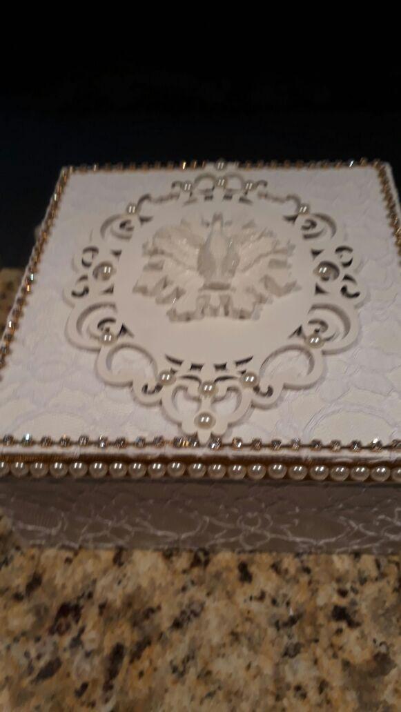 f5b2c1903fea Caixa Mdf Convite De Casamento Ou Batizado Com Renda - R$ 100,00 em ...
