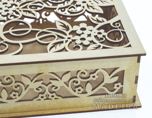 caixa mdf cru 18x15x06 convite padrinho casamento 7 unid.