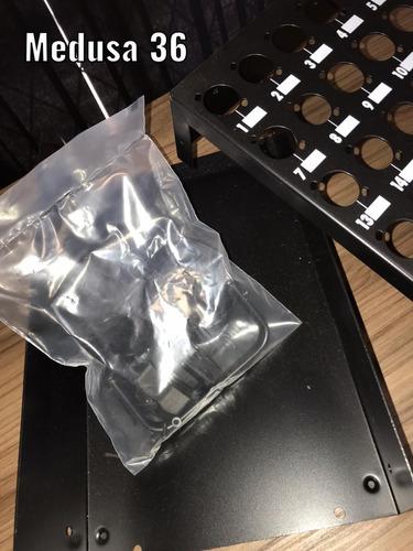 caixa medusa 36 vias e 1 saída bsmed36 preto santo angelo