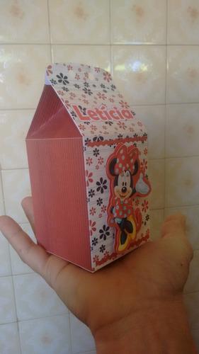 caixa milk 3d minnie lembrancinhas aniversário (promocional)