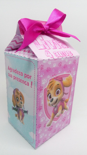 caixa milk sacolinha surpresa skye 20 und frete grátis
