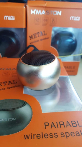 caixa mini speaker h'maston metal wireless speaker