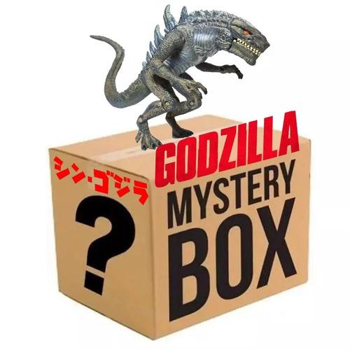 caixa misteriosa godzilla raridade 1998+10 itens surpresa