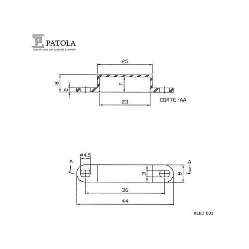 caixa montagem sensor reed 001 branco (6 und) patola