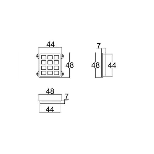 caixa montagem sensor teclado 40x44 patola