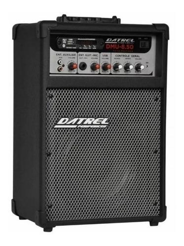 caixa multiuso amplificada bluetooth usb sd fm 50 watts dmu