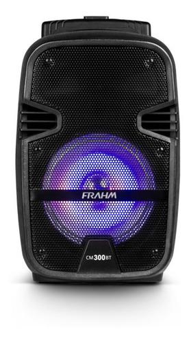 caixa multiuso frahm cm 300 bluetooth usb bateria  300 wrms