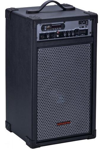 caixa multiuso iron 600 100w rms bluetooth usb/sd e rádio f