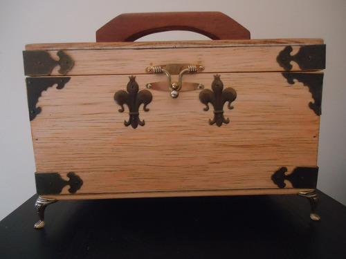 caixa multiuso madeira para bijuterias e pequenos objetos