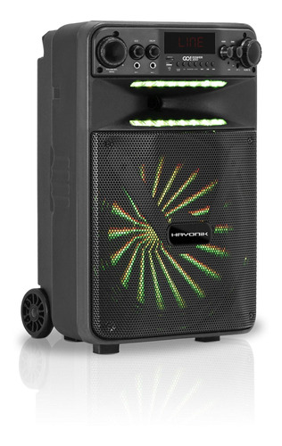 caixa multiuso portátil bluetooth/microsd/usb/fm 100w go!pow