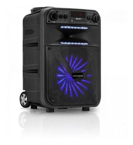 caixa multiuso portátil bluetooth/microsd/usb/fm 200w go!pow