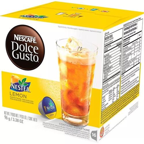 caixa nescafé dolce gusto nestea chá limão 16 cápsulas