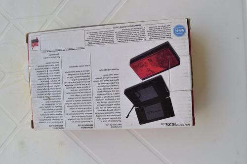 caixa nintendo 3ds lite vermelho