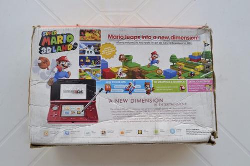 caixa nintendo 3ds original vermelho usada