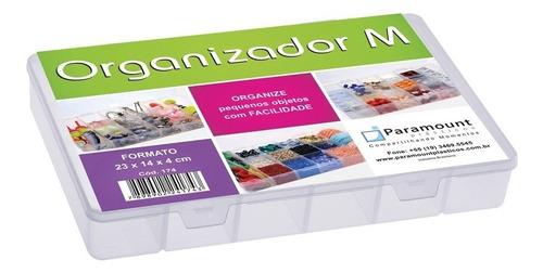 caixa organizador  com 14 divisorias 23 x 14 x 4 cm cod 174