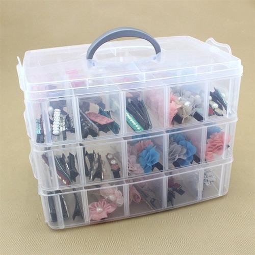 caixa organizadora 30 divisorias box pesca costura estojo