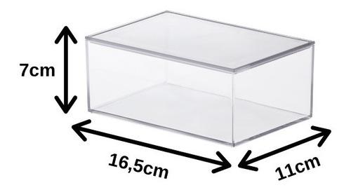 caixa organizadora c/ tampa acrílico média paramount 1077