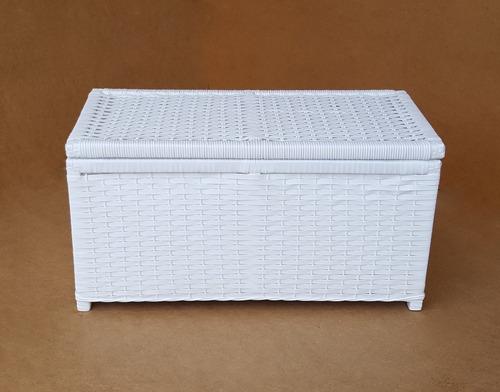 caixa organizadora cesto de roupa baú fibra sintética 60x30