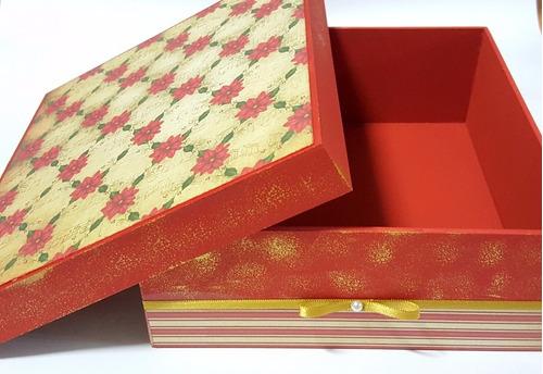caixa organizadora decorada com tema natal