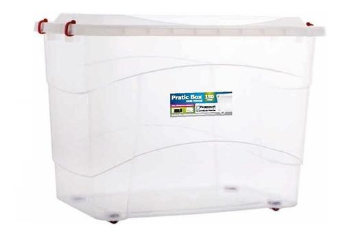 caixa organizadora gigante organizador container 150l + roda