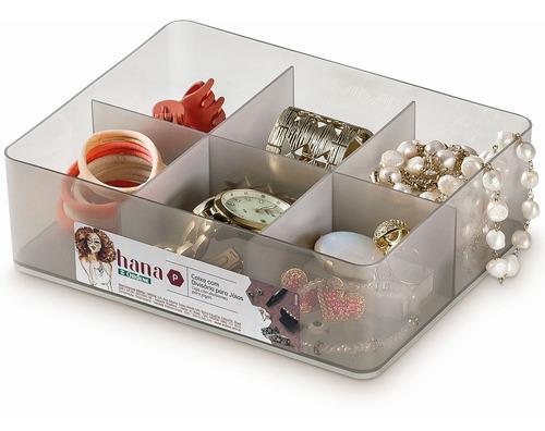 caixa organizadora p com tampa e divisórias gelo hana ordene organizador anéis porta jóias brincos bijus closet gavetas