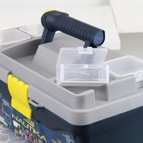 caixa organizadora pesca e ferramentas c/ lanterna luxbox nf