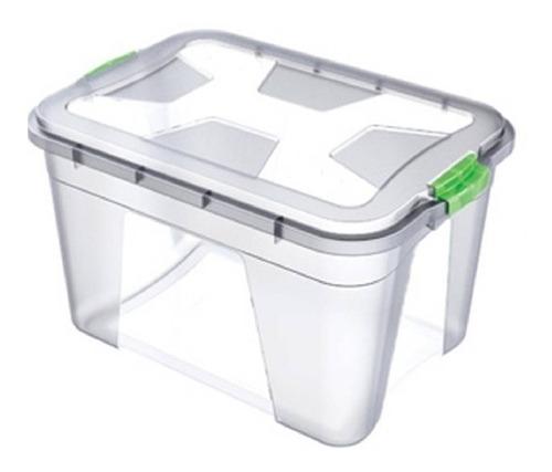 caixa organizadora plástica 20 litros com tampa