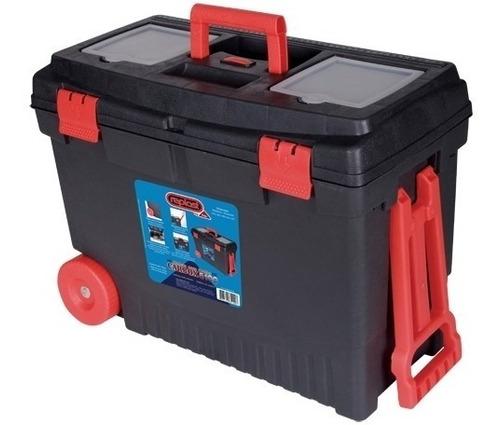 caixa organizadora plástica porta ferramentas c/ rodas
