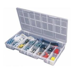 Caixa Organizadora Plástico Transparente 17 Divisórias