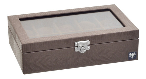 caixa organizadora porta estojo 10 relógios couro ecológico.