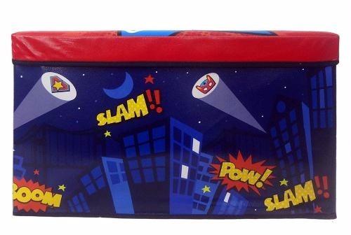caixa organizadora puff bau infantil brinquedo guardar