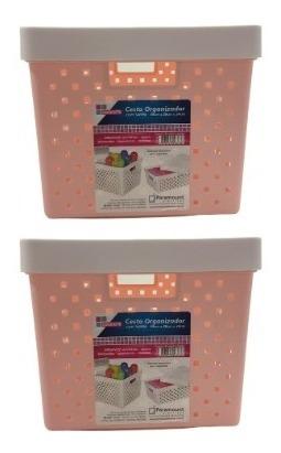 caixa organizadora quadratta paramount 2 peças