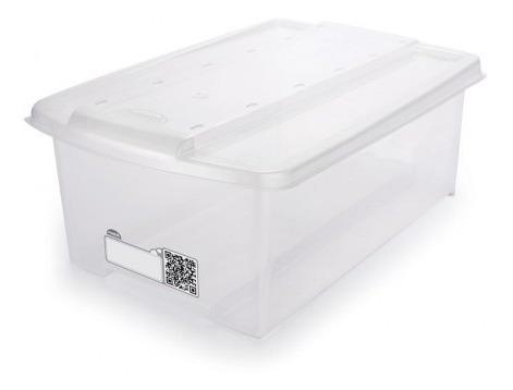 caixa organizadora transparente - 6l - 02unidades