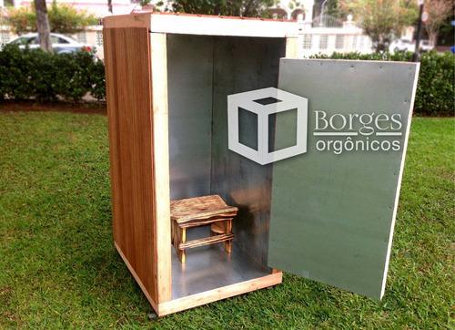 caixa orgônica de 3 camadas - temos  de 5 camadas e pequena