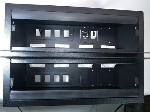 caixa painel multi conexão eletrica mesa de reunião 8 tomada