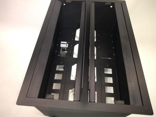 caixa painel multi conexão eletrica mesa de reunião 8 tomada kit esp. 3 unidades