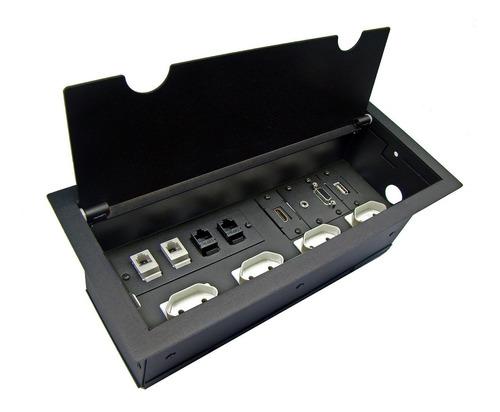 caixa painel multi conexão eletrica mesa reunião oct04br3hrv